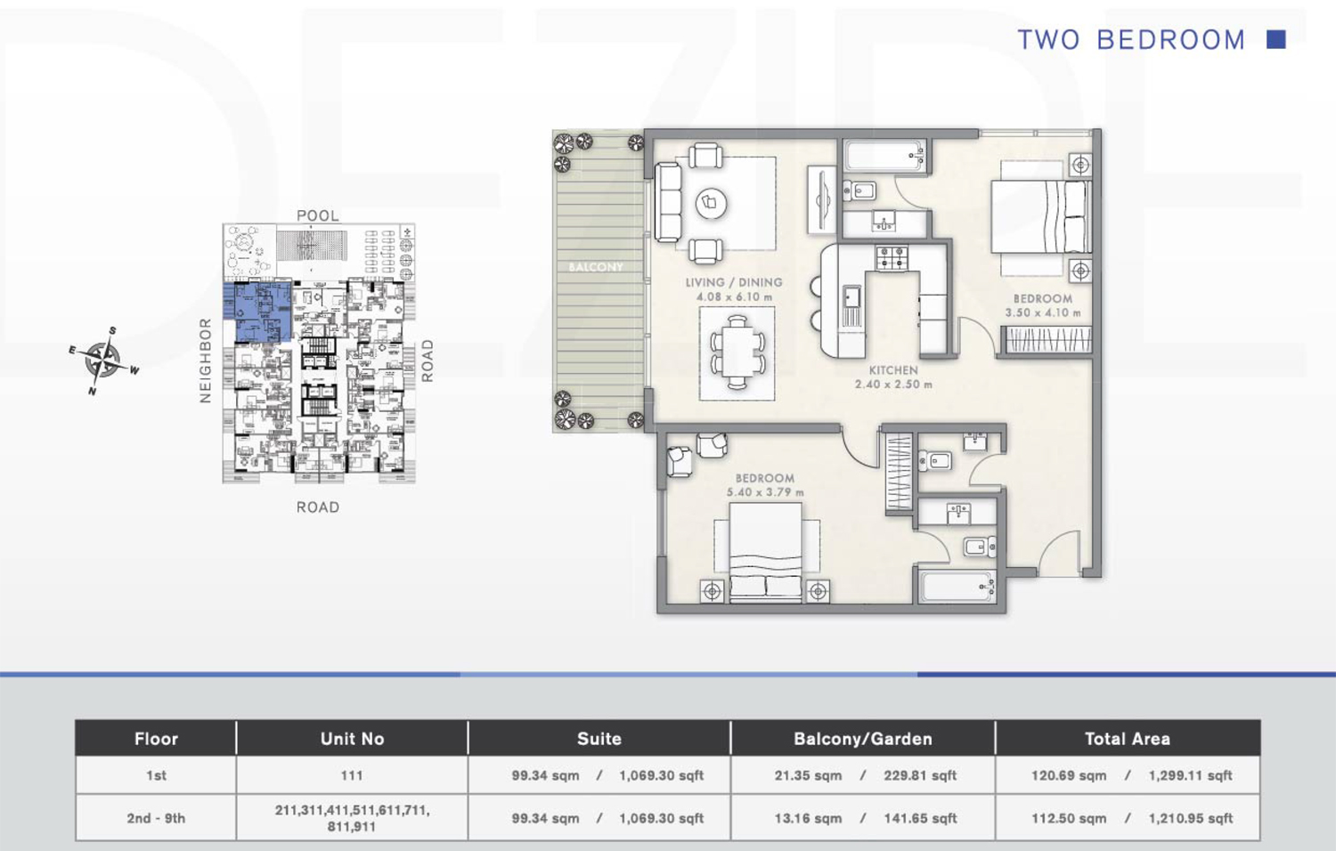 2 Bedroom Floor Plan 2