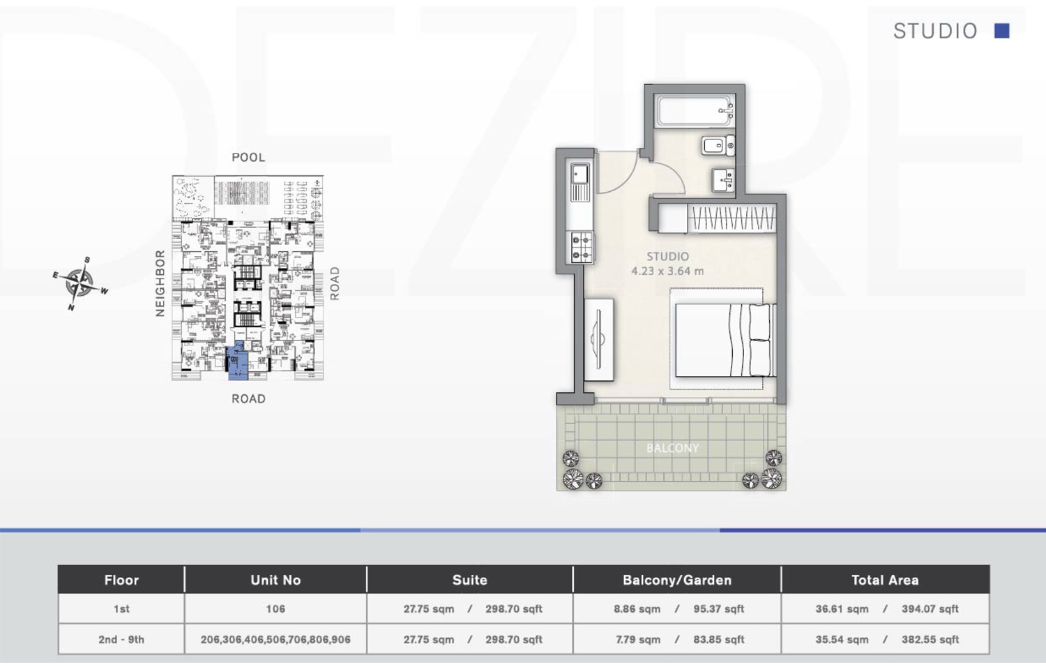 Studio Floor Plan 2